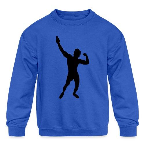 Zyzz Silhouette vector - Kids' Crewneck Sweatshirt