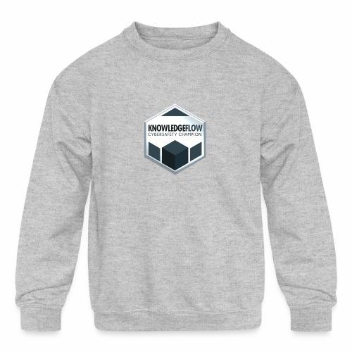KnowledgeFlow Cybersafety Champion - Kids' Crewneck Sweatshirt