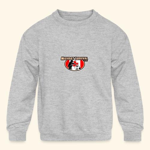 Muskrat Badge 2020 - Kids' Crewneck Sweatshirt