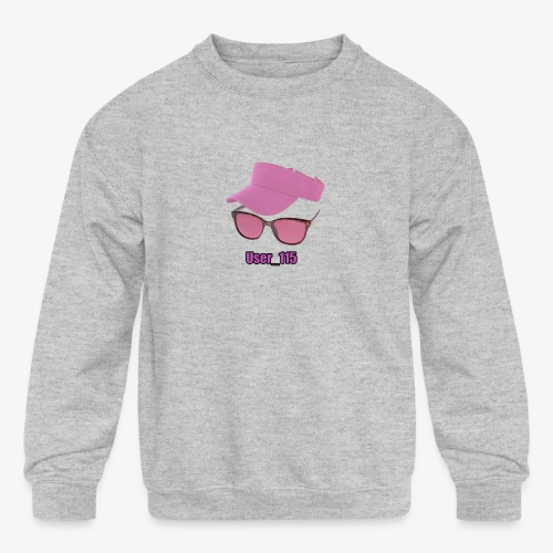 Glasses And Hat - Kids' Crewneck Sweatshirt