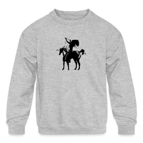 Native american - Kids' Crewneck Sweatshirt