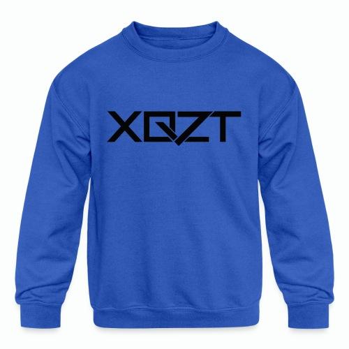 #XQZT Logo Ultra Noir - Kids' Crewneck Sweatshirt