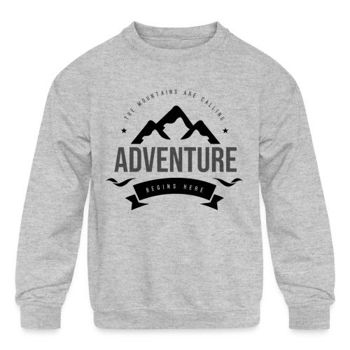 The mountains are calling T-shirt - Kids' Crewneck Sweatshirt