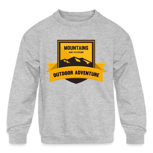 Mountains Dare to explore T-shirt - Kids' Crewneck Sweatshirt