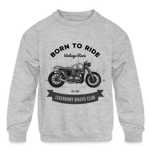 Born to ride Vintage Race T-shirt - Kids' Crewneck Sweatshirt