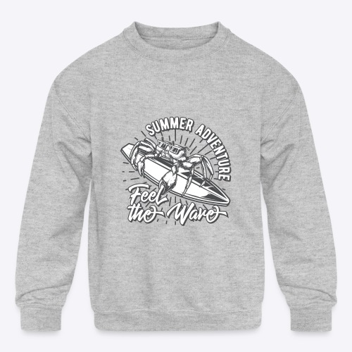 Summer Adventure Surf - Kids' Crewneck Sweatshirt