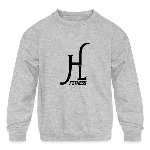 HLF Vector Blk - Kids' Crewneck Sweatshirt