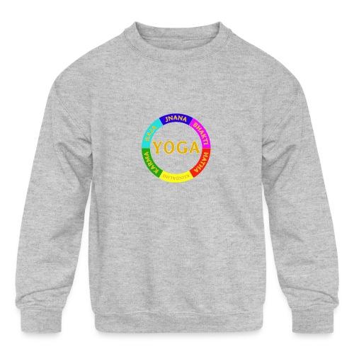 6 ways of Yoga - Kids' Crewneck Sweatshirt