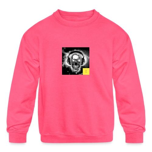 skull - Kids' Crewneck Sweatshirt