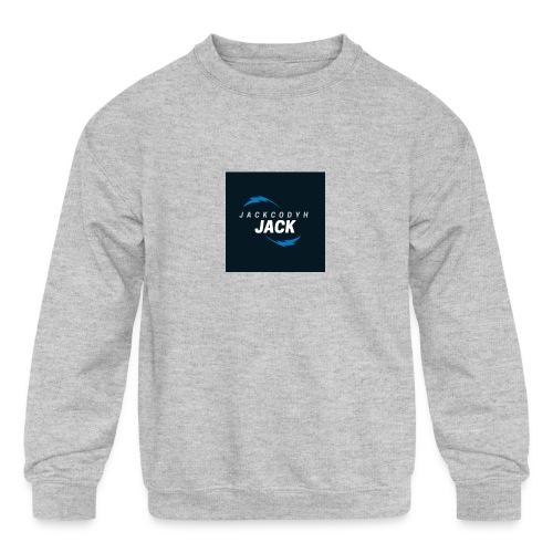 JackCodyH blue lightning bolt - Kids' Crewneck Sweatshirt