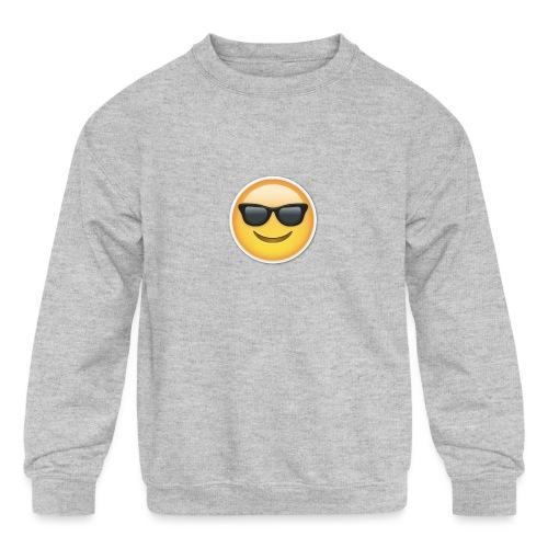 sunglasses emojicon mug & phone case - Kids' Crewneck Sweatshirt