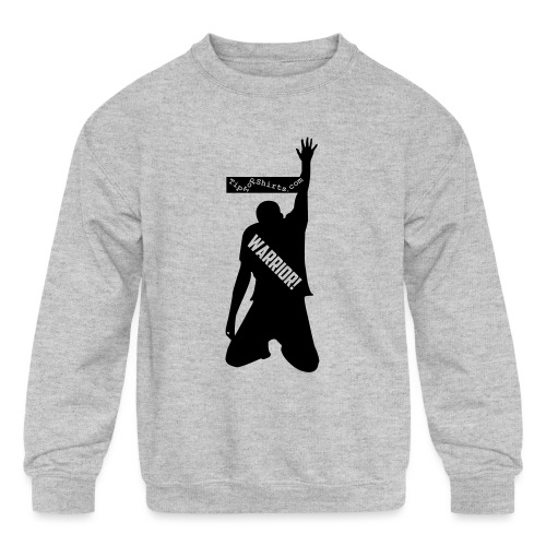 warrior shirt front - Kids' Crewneck Sweatshirt