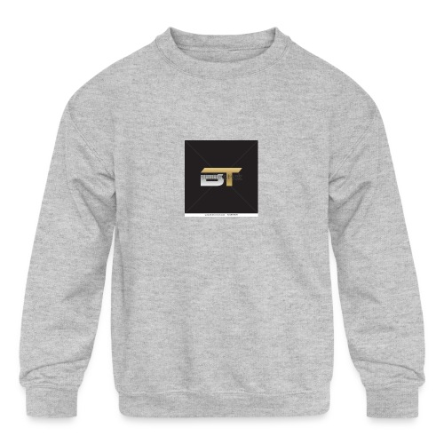 BT logo golden - Kids' Crewneck Sweatshirt