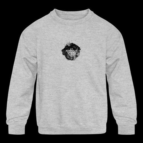 ROS FINE ARTS COMPANY - Black Aqua - Kids' Crewneck Sweatshirt