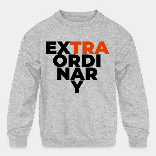 super extraordinary unusual - Kids' Crewneck Sweatshirt
