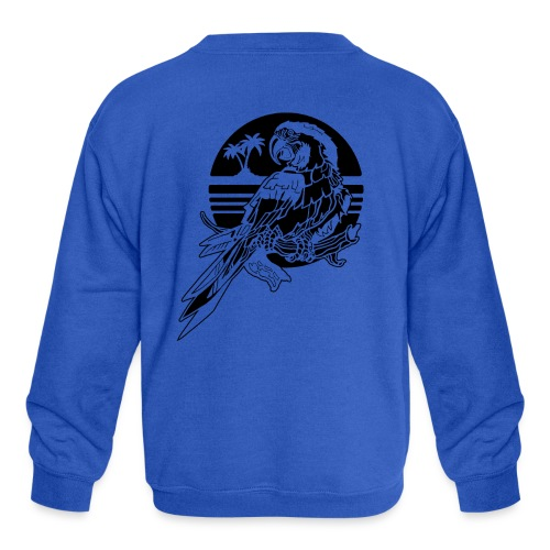 Tropical Parrot - Kids' Crewneck Sweatshirt