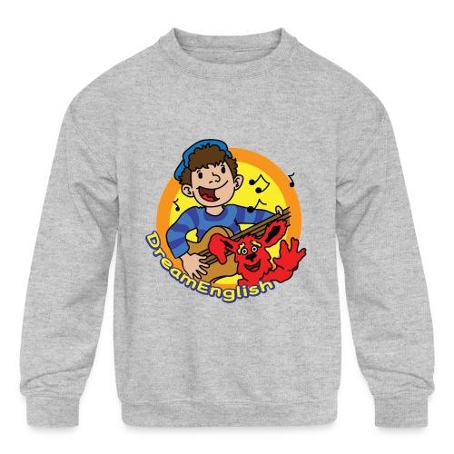 dreamenglishlogo-L - Kids' Crewneck Sweatshirt