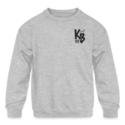 Kure Beach Day-Black Lettering-Front and Back - Kids' Crewneck Sweatshirt