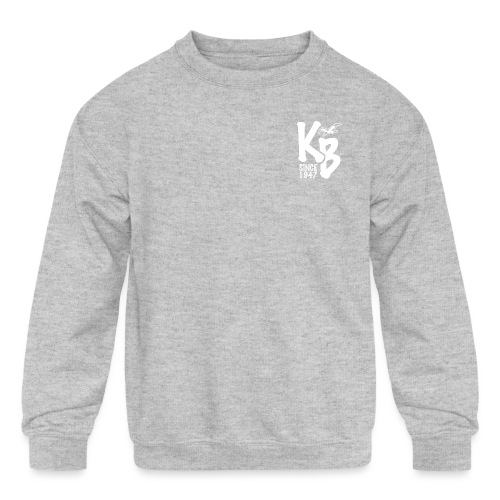 Kure Beach Day-White Lettering-Front and Back - Kids' Crewneck Sweatshirt