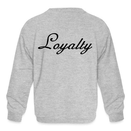 Loyalty Brand Items - Black Color - Kids' Crewneck Sweatshirt