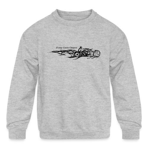 Sketch Rider Front - Kids' Crewneck Sweatshirt