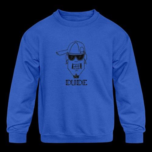 Dude Head 2 - Kids' Crewneck Sweatshirt