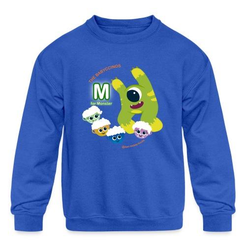 The Babyccinos M for Monster - Kids' Crewneck Sweatshirt