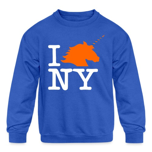 I Unicorn New York (Kristaps Porzingis) - Kids' Crewneck Sweatshirt