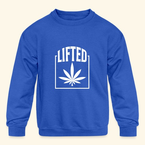 LIFTED T-SHIRT FOR MEN AND WOMEN - CANNABISLEAF - Kids' Crewneck Sweatshirt