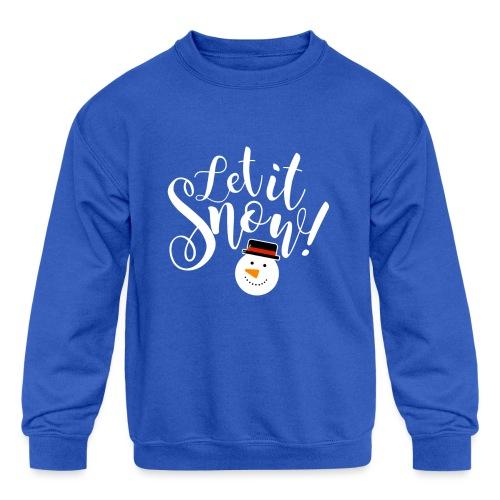 Let It Snow - Holiday Design - Kids' Crewneck Sweatshirt