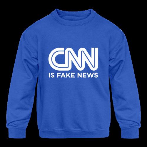 CNN Is Fake News - Kids' Crewneck Sweatshirt