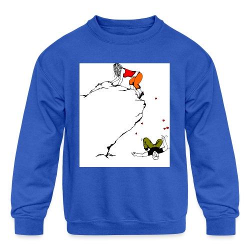Lady Climber - Kids' Crewneck Sweatshirt