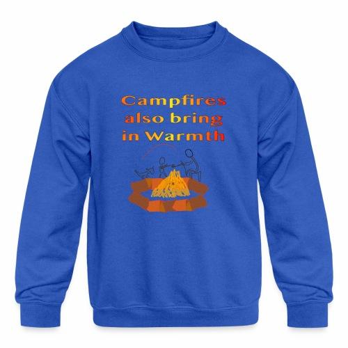 Around the Campfire - Kids' Crewneck Sweatshirt