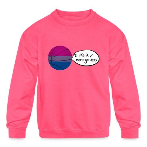 Bible/Bi-Ball Pun (For Those Who Like to Explain) - Kids' Crewneck Sweatshirt