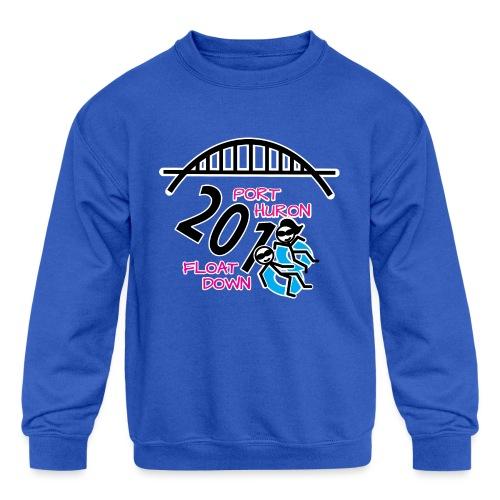 Port Huron Float Down 2018 Shirt - Color - Kids' Crewneck Sweatshirt