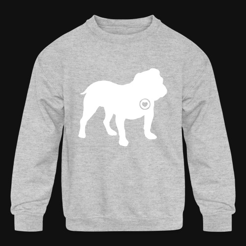 Bulldog love - Kids' Crewneck Sweatshirt