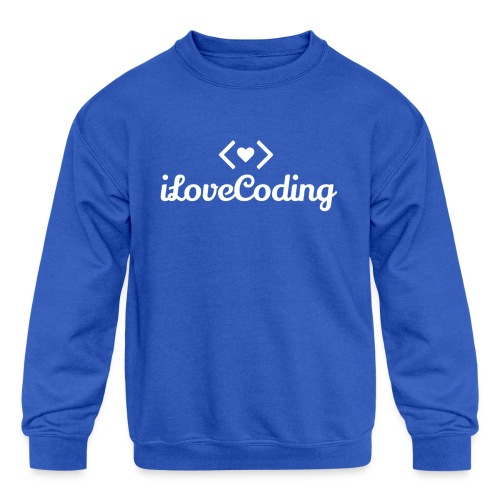 I Love Coding - Kids' Crewneck Sweatshirt