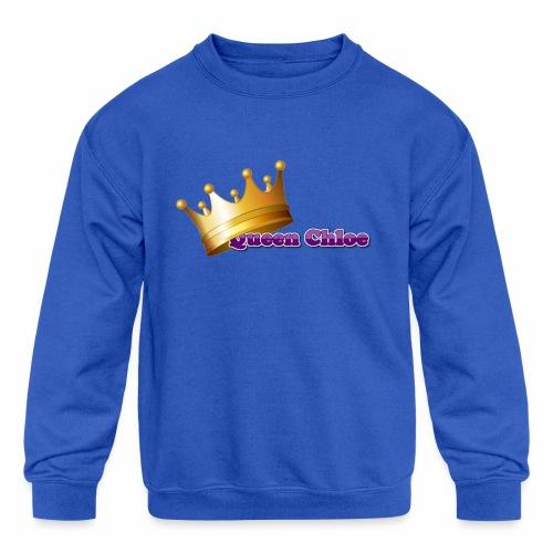 Queen Chloe - Kids' Crewneck Sweatshirt