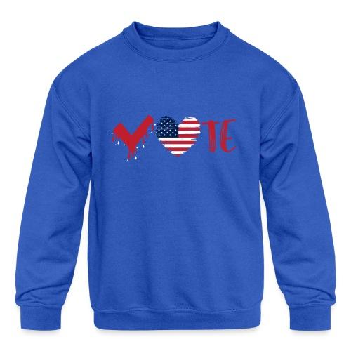 vote heart red - Kids' Crewneck Sweatshirt