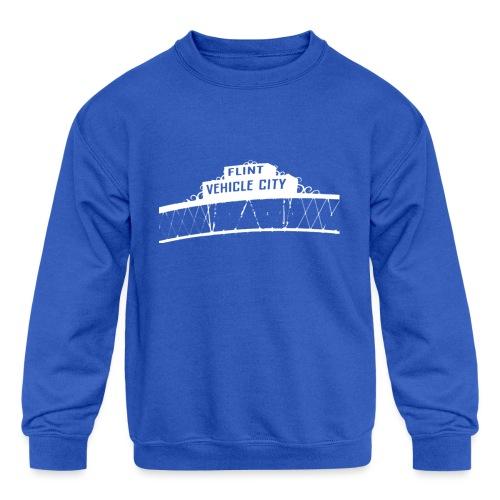Flint Vehicle City - Kids' Crewneck Sweatshirt