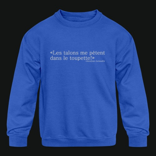 HEELS IN TOUPETTE - Kids' Crewneck Sweatshirt