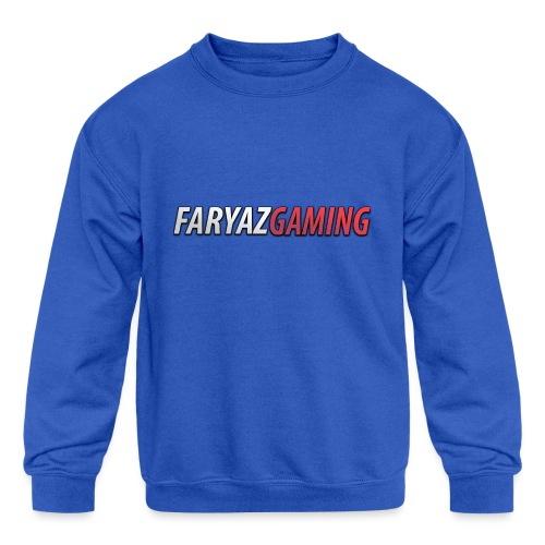 FaryazGaming Text - Kids' Crewneck Sweatshirt