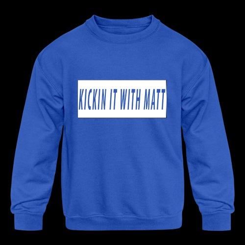 White Design - Kids' Crewneck Sweatshirt