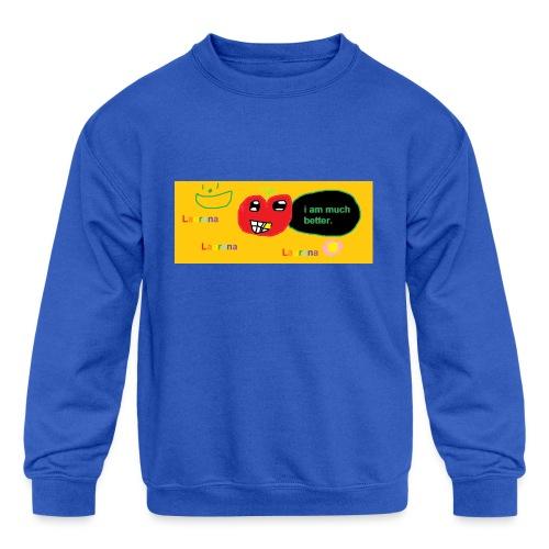 pechy vs apple - Kids' Crewneck Sweatshirt