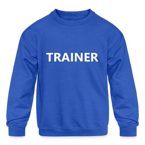 Trainer - Kids' Crewneck Sweatshirt