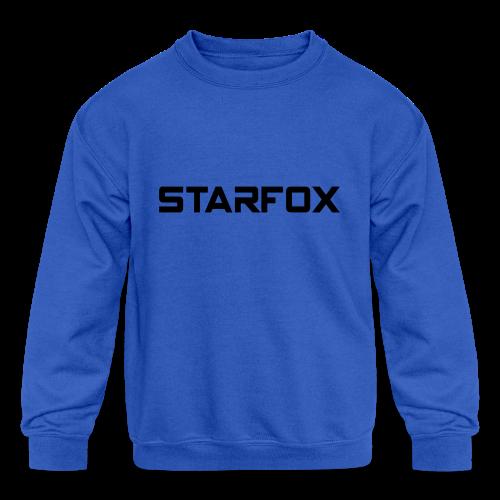 STARFOX Text - Kids' Crewneck Sweatshirt