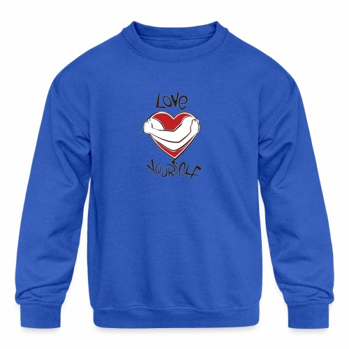 LOVE YOURSELF - Kids' Crewneck Sweatshirt