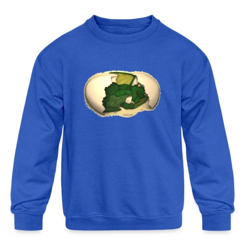 The Emerald Dragon of Nital - Kids' Crewneck Sweatshirt