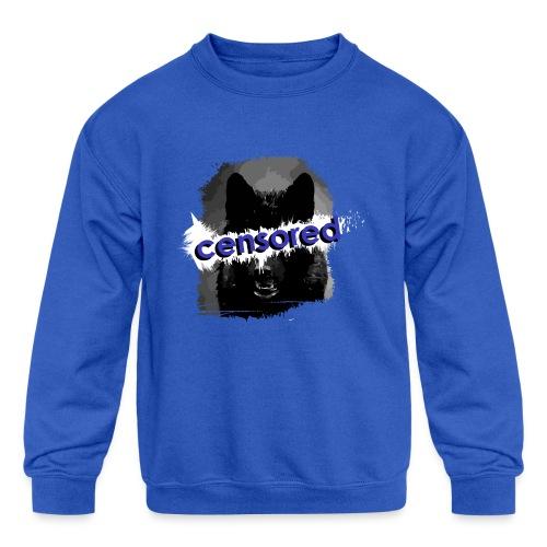 Wolf censored - Kids' Crewneck Sweatshirt