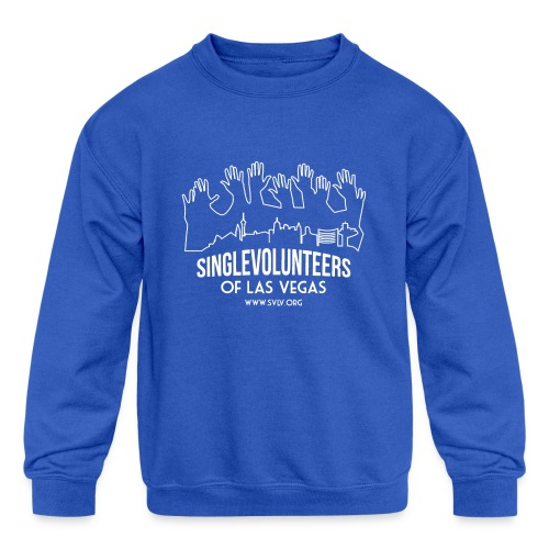 White logo SVLV - Kids' Crewneck Sweatshirt